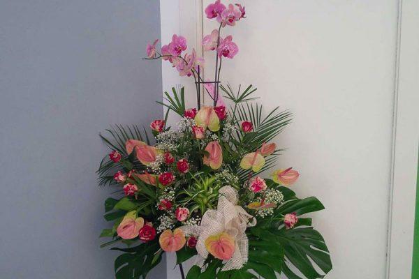 Centro floral exótico