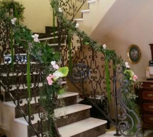 Decoración floral para comunión